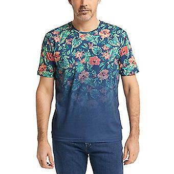 Pioneer T-Shirt Rundhals Flower Degrade, Darkindigo, XXL Men