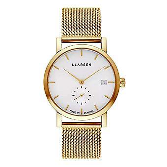 LLARSEN Analogueic Watch Quartz Woman with Stainless Steel Strap 137GWG3-MG3-18