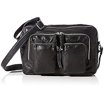 PIECES PCONELLA Leather Cross Body D2D, Women's Folder Bag, Black/Detail: Silver