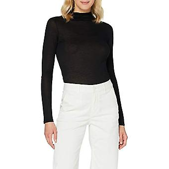 Sisley Sweater L/S T-Shirt, Schwarz 100, M Donna
