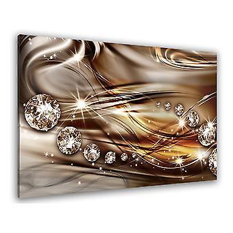 Tableau graphique strass et diamants - 80x50 cm