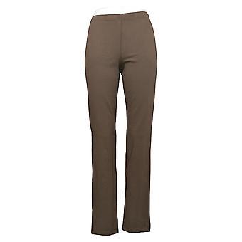 Femmes avec contrôle Shapewear Tushy Lifter Slim Leg Pants Brown A310956