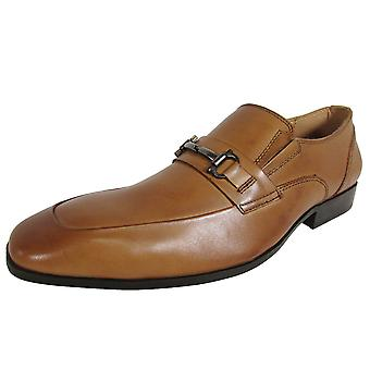 Steve Madden Mens Mendal Square Toe Bit Loafer Shoes