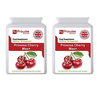 Pack of 2 - Cherry Max 1500mg 90 Capsules | Suitable For Vegetarians & Vegans | Made In UK by Prowise