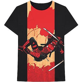 Marvel Comics - Deadpool Samurai Heren Groot T-Shirt - Zwart