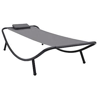Gartenbett 200X90 Cm Stahl grau