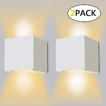 White indoor / outdoor wall light 12w adjustable led wall lights 3000k warm white waterproof ip65 wall lamp(2pcs) dt6717