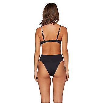Volcom Junior's Women's Simply Seamless Retro Bikini Bottom, Black, Large