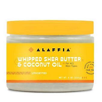Alaffia Whipped Shea Butter & Coconut Oil, Unscented & Unrefined 11 Oz