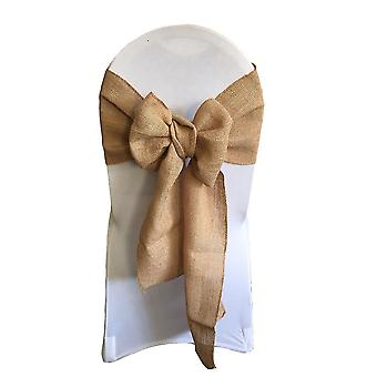 20pcs Chair Sash Bow Ties For Banquet Wedding Party Chair Cover