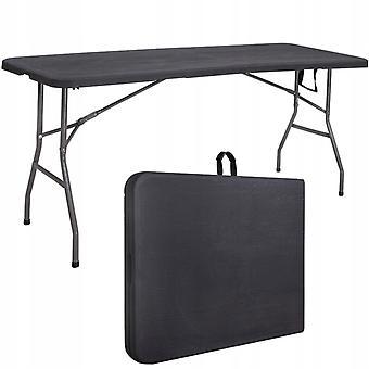 Fällbart trädgårdsbord - 180 x 75 cm - svart - cateringbord