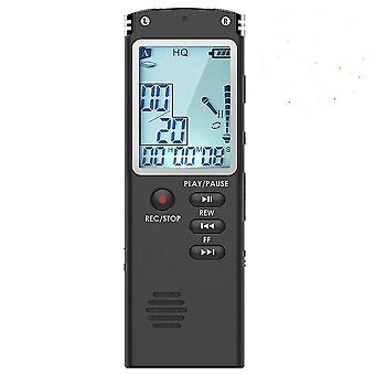 Digital Voice Recorder 32g Voice Activated Mini Spy Sound Audio Recorder Palyback Dictaphone(16G)