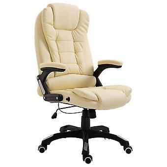 vidaXL chaise de bureau de la crème en simili-faux