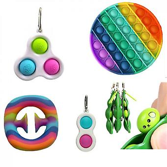 Rodent Pioneer Keychain Grip Device Edamame Descompression Venting Toy Combination Set