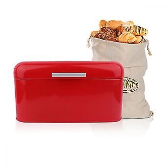 Metal Bread Bin Loaves Storage Canister Tins