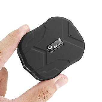 Winnes Mini Waterproof Tracking Device with Powerful Magnet Long Standby GPS Tracker Locator for Kids Seniors Pets Cars (black)