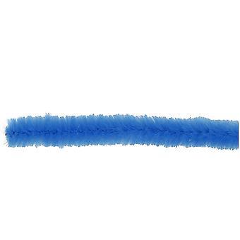 15 Mörkblå 15mm Super Chunky Piprengöringsmedel   Chenille stjälkar
