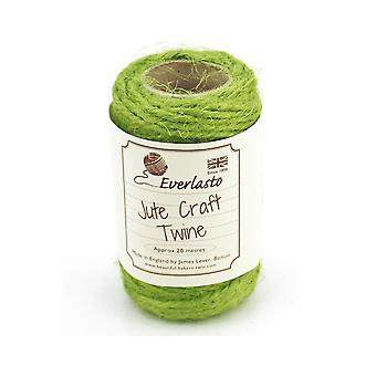 20m Apple Green Jute String for Crafts   Twine Cord & Elastic for Crafts
