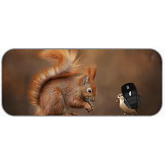 (750X300X3) XXL מקצועי עכבר גדול כרית סנאי, ציפור, דרור מורחב משחקים עכבר כרית
