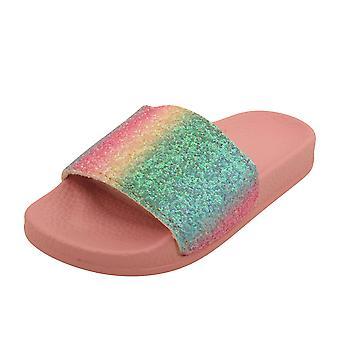 Barn flickor Rainbow Glitter Sliders