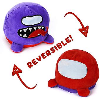 Reversible Plushies Among Us Plush Toys, Soft Stuffed Animal Double Sided Flip Dolls, Among Us Merch Plushie Gifts For Game Fans And Kids Birthday Chr