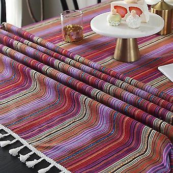 60cm Haute qualité Bohemian Family Kitchen Banquet Table Set 1 Pièce   Nappe (violet)