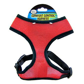 """Four Paws Comfort Control Harness - Red - Large - For Dogs 11-18 lbs (19""""-23"""" Chest & 13""""-15"""" Neck)"""