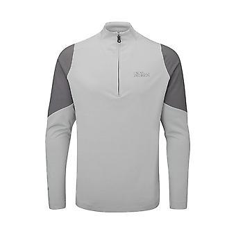 Oscar Jacobson Mens Mid Layer Lightweight 1/4 Zip Jacket Sports Outerwear Top