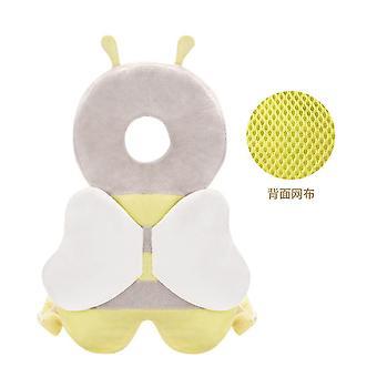 Homemiyn Toddler Baby Head Protection Poduszka Plecak Wear Soft And Breathable (18x35cm) (Żółty)