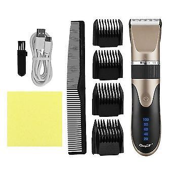 Profesjonalny elektryczny maszynka do strzyżenia włosów ceramiczne ostrze do włosów bezprzewodowy przewodowy podwójny strzyżenie włosów