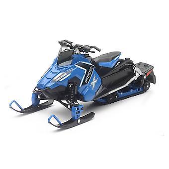 01:16 escala Polaris Switchback Pro-X 800 Snowmobile, azul