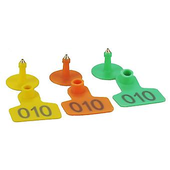 100 Pieces Of Durable Laser Pig Ear Tag Markers With Copper Heads