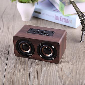 Trähögtalare Kraftfull Bluetooth-högtalare Högpresterande dubbla högtalare