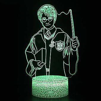 3d Touch Lampe Kinder Nachtlichter 7 Farben mit Fernbedienung - Harry Potter