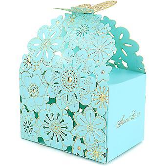 50 Geschenktüten Blaue Süßigkeitenbox geeignet für Hochzeiten und Geburtstagsfeiern