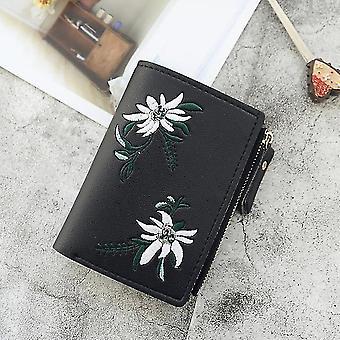 Neue Damen Geldbörsen Print Blume Kurze Brieftasche Für Frau Reißverschluss Mini Münze Geldbörse Damen Kleine Brieftasche Weibliche Leder Kartenhalter