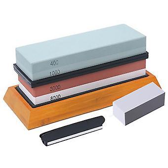 Messer Schärfen Stein Kit, 4 SeitenKörnung 400/1000 3000/8000 Wasserstein