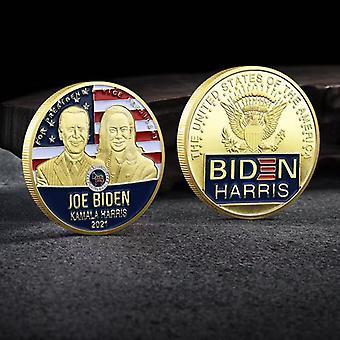 Der 46. Präsident der Vereinigten Staaten Biden und seine Frau Gedenkmünze Sammlung Münze Harris Goldmünze Medaille