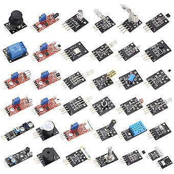 Starter kit di sensori 37 in1 per Arduino Mcu Education, per Raspberry Pi