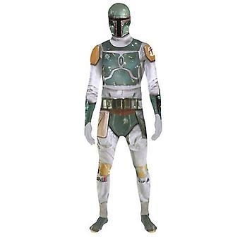 Star Wars Boba Fett dospelých Unisex Zapper cosplay kostým digitálne Morphsuit-veľké-multi-farebné (MLZBFL-L)