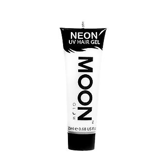 Moon Glow - 20ml Neon UV hår Gel - tillfälliga Wash-out hårfärg - vit