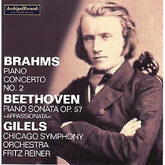 Brahms / Beethoven / Gilels / Cso / Reiner - Piano Concerto No. 2 in B Flat Major / Piano Sonat [CD] USA import