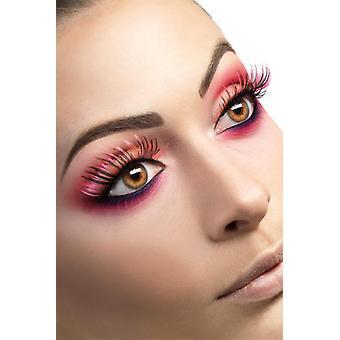 Wimpern pink schwarz künstliche Augenwimpern