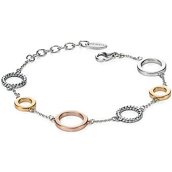 925 zilveren Rose goud vergulde modieuze armband