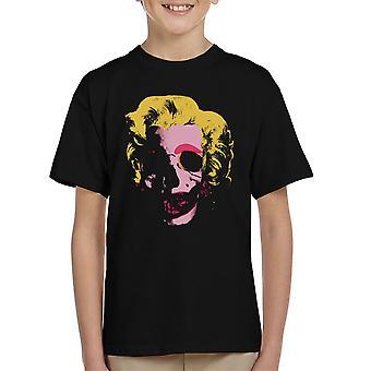 Marilyn Monroe Pop Art Skull Kid t-paita