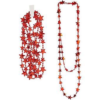 Juwelen en kronen vrouwen RED STARS ketting '' 210 cm