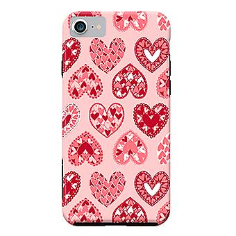 ArtsCase Designers Cases Pink Papercut Hearts for Tough iPhone 8 / iPhone 7