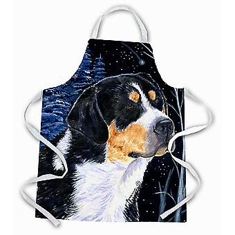 Carolines Treasures  SS8393APRON Starry Night Bernese Mountain Dog Apron