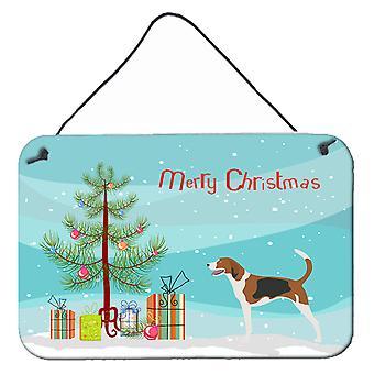 American Foxhound Christmas Wall or Door Hanging Prints