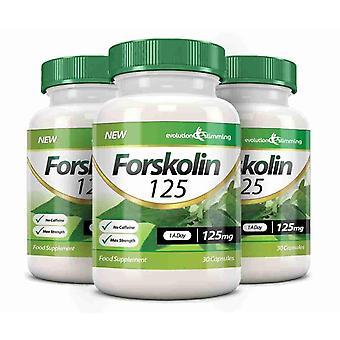 Forskolin 125 125 mg kapsler - 90 kapsler - fedtforbrænder og metabolisme Booster - Evolution slankende